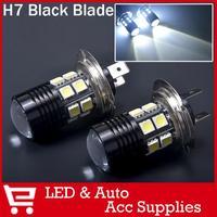2X LED H7 12 SMD 5050 + Cree Lens Q5 Plasma Projector Fog Light Daytime Running Light Xenon White Lamb