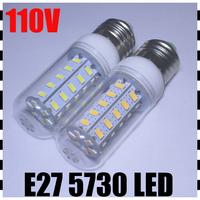 6PCS/LOT Hot selling 36leds SMD 5730 E27 LED 110V 12W LED bulb lamp spotlight warm white/cold white LED Corn Light High Power