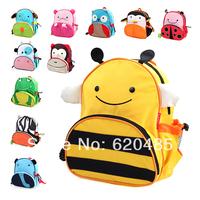 Free shipping Double-shoulder baby school bag cartoon bag child