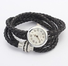 2014 New!! New Arrival Fashion Leather Twist Bracelet Watch Women Quartz Wrist Watches XY-B92 B93