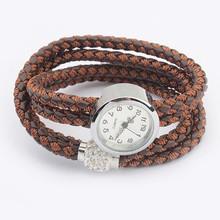 2014 New New Arrival Fashion Leather Twist Bracelet Watch Women Quartz Wrist Watches Y8871