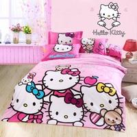 New hello kitty queen size bedding,500TC Cotton bedding sets without filler,100% cotton king /queen size hello kitty bedding set