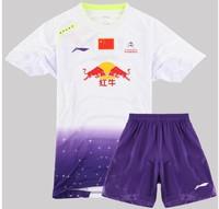 2014 LI-NING Arrival Badminton CHINA OPEN Jersey Men With Sponsors CHEN LONG Jersey / Badminton Shirts+Shorts / LINING Clothes