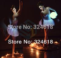 Led Luminous dress Ballet costume flashing Women's ballet dress Led shining dancing costume optic micro fiber white dress