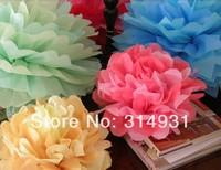 """Wholesale 500pcs/lot 8"""" Paper Flowers Ball Peony Bouquet Garland Wedding Props Supplies Decoration Bouquet Tissue Paper Pom Poms"""