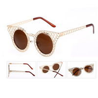 2014 metal frame Vintage Mesh Women Men Mesh cateye Sunglasses My Love from the Star/ G166