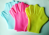 Hot sale models full silicone webbed hand / palm paddling / swimming snorkeling essential tool to help swimming glove