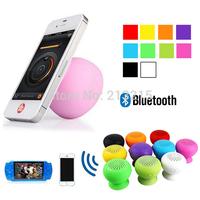 500pcs/lot, New Mini Portable Wireless Bluetooth Speaker Waterproof Mashroom Handsfree for iPhone 5s Samsung S5 Free Shipping