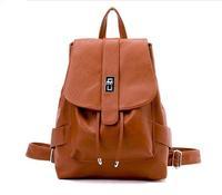2014 New Fashion PU Leather women backpack Canvas women's school backpak shoulder bag 3 colour
