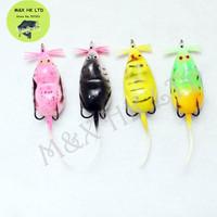 Perfect Soft Plastic Mouse Fish Frog Fishing Lures  Bait tow Japan Hooks 200pcs/ lot  100mm 8g minnow crankbait fashion style