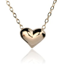401 Fashion Italina Metal Lovely Heart Pendants 18K Gold Silver Plated Simple Chokers Necklaces for women jewelry,Free Shipping