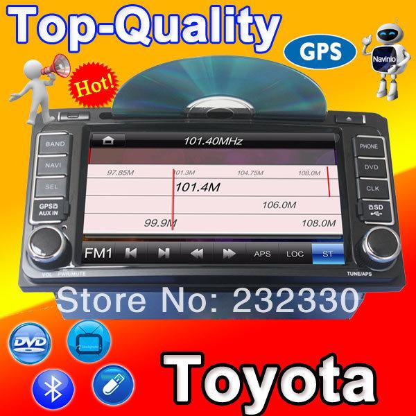 Dvd de voiture de navigation gps navi radio pour toyota camry hilux corolle landcruiser prado rav4 yaris. usb sd fonction rds 3g
