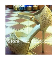 2014 women new fashion han edition high waterproof units with buckles high heels
