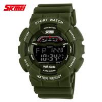 freeshipping 30pc/lot new design SKMEI sports led watches,50M deep waterproof,PU plastic band,digital movement,5colors choice