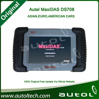 2014 Autel Distributor Code Scanner Autel MaxiDAS DS708 English/Spanish Version Full Package Free Shipping