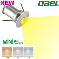 Daei Brand 2014 new product Temmokus 1.5W MINI LED Spotlight LED Cabinet Light 3000K 4000K 6000K 12piece/lot Free Shipping