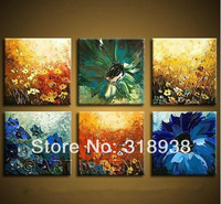 FreeShipping Framed Hand-painted Abstract Flower Oil Painting on Canvas Art/home decoration/High Quality/AF900