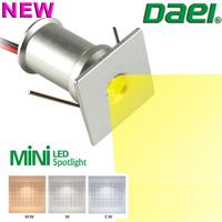 Daei Brand 2014 new product Temmokus Square 1W MINI LED Spotlight LED Cabinet Light TM01F-1.5W 12piece/lot Free Shipping