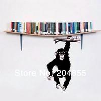 "The Beautiful Cartoon  Pattern ""The Monkey"" PVC Wall Sticker Home Decor  wall sticker --Small size 60*38cm"