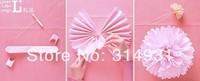 """Wholesale 500pcs/lot 10"""" 25cm Tissue Paper Pom Poms Flower Balls Wedding Party Shower Decoration"""