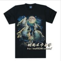 Heavy Metal Rock Punk wolf moon shirt 3Dt   004