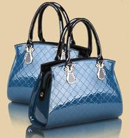 Patent Leather ladies handbags women fashion bags 2014 famous designer tote shoulder bags women ZH139 free shipping