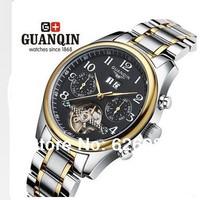 Guaranteed!Original GUANQIN Tourbillon Watches men luxury brand Sapphire Waterproof swiss automatic Skeleton Watch clock GQ10029
