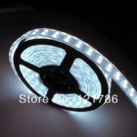 Free ship 5m 600LEDs Waterproof 5050 LED Strip Double Row 120 LEDs/M flexible led light 12V 60W  white/warm white