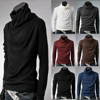 Basic t-shirt white long-sleeve male 2013 autumn and winter long-sleeve T-shirt male slim 100% cotton