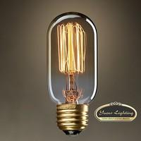 Wholesale Special lights Filament Art light bulb vintage Edison lamp E27 120V/220V Incandescent olds Bulbs,Free Shipping,T45II