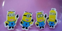 Free Shipping Despicable Me Child Eraser Study Appliance Cheap Wholesale Small Minions Eraser