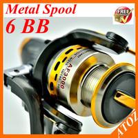 Free shipping high quality 1pcs SG 5BB+1BB Matel Aluminum Spool Fishing Reels spinning reel a Fishing Tackle 2014 Hot sale!!!