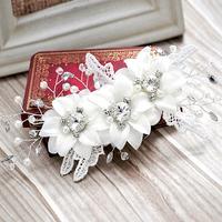 Rich colour bridal hairpin handmade lace married hair accessory rhinestone pearl wedding dress accessories
