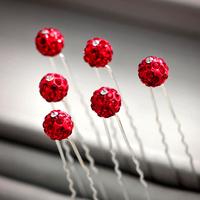 Colour bride hair accessory red dot red  chinese style hair stick cheongsam hair accessory costume wedding dress hair