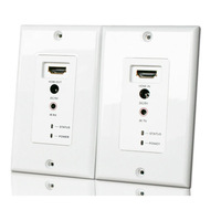 HDMI over UTP Cables (Cat 5E/ 6) Repeater Extender Wall Plate with IR Remote Control 30M 1080P Supported