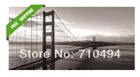 San Francisco modern golden gate bridge oil painting, free shipping