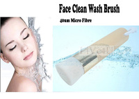 Pro. Micro Fibre Flat Top Foundation Face Brush Pine Wooden Brush Makeup Tool Free Shipping 4USW131
