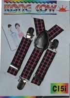 2014 new 2.5cm fashion stripe check pattern child suspenders clip bib pants spaghetti strap free shipping