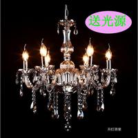 Fashion glass tube pendant light tawers k9 crystal candle lamp 6 8 10