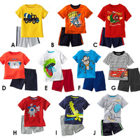 Free Shipping Boys girl clothing sets new arrival Kids Set Summer baby children Clothing Set kids suit Tshirt +short 2pcs set