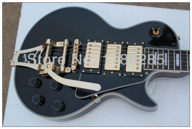 Versandkosten frei chinesisch musikinstrument gbson black beauty lp les paul custom e-gitarre