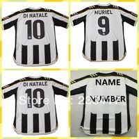 13-14 High Thailand Quality Udinese Calcio Muriel 9# Di natale 10# Home Black White Football Soccer Jerseys Club Uniforms Shirts