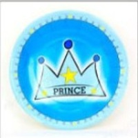 Children party supplies prince theme package tray paper plates of disposable plates wholesale  ck001