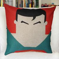 Wholesale Of superman cushion 45x45cm knitting fabric 55designs home decoration/wedding cartoon cushions