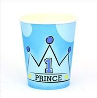 Min Order $10(mixed buy) The little boy party supplies festival supplies paper cups water Disposable cups ck001