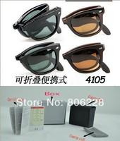 Wholesale designer sunglasses , men sunglasses , women sunglasses , folding sunglasses (50mm glass lens)4105 Sunglasses