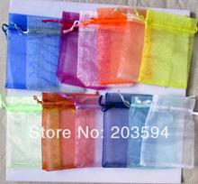 500 Stücke Organza Geschenk Taschen 10x15 cm Geschenk Schmuckbeutel viele Farben Dropshipping(China (Mainland))