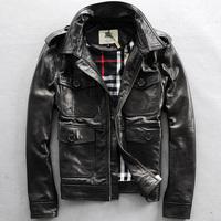 2014 spring and autumn Genuine leather clothing slim male short design genuine sheepskin jacket  leather clothing Y2P4 TP4