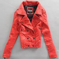 2014 autumn and winter women slim leather jacket outerwear women's sheepskin genuine leather clothing 11 P5