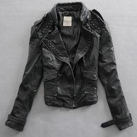 2014 autumn and winter women slim leather jacket outerwear women's sheepskin genuine leather clothing 07 P5